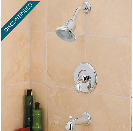 Polished Chrome Catalina 1-Handle Tub & Shower, Trim Only - R89-8EBC - 2