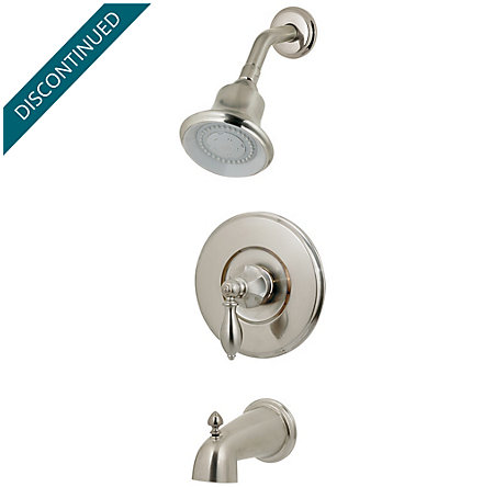 Brushed Nickel Catalina 1-Handle Tub & Shower, Trim Only - R89-8EBK - 1