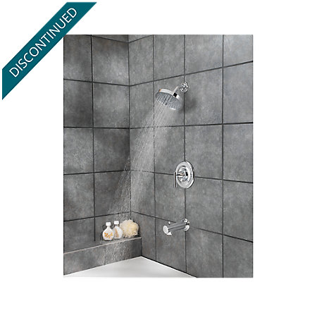 Polished Chrome Contempra Tub & Shower Combo - R89-8NC1 - 3