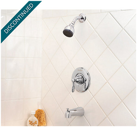 Polished Chrome Portland Tub & Shower Combo - R89-8PC0 - 2