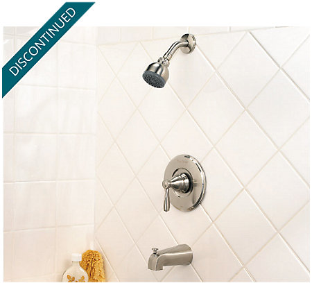 Brushed Nickel Portland Tub & Shower Combo - R89-8PK0 - 2