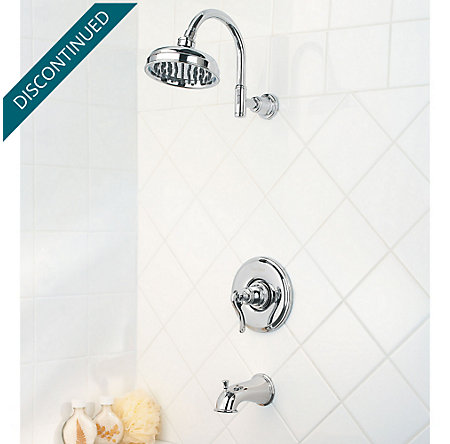 Polished Chrome Ashfield 1-Handle Tub & Shower, Trim Only - R89-8YPC - 2