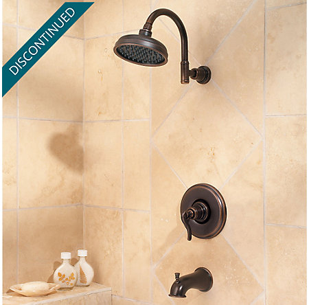 Rustic Bronze Ashfield 1-Handle Tub & Shower, Trim Only - G89-8YPU - 2