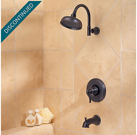 Tuscan Bronze Ashfield 1-Handle Tub & Shower, Trim Only - R89-8YPY - 2