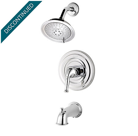 Polished Chrome Universal 1-Handle Tub & Shower, Trim Only - R90-TD1C - 1