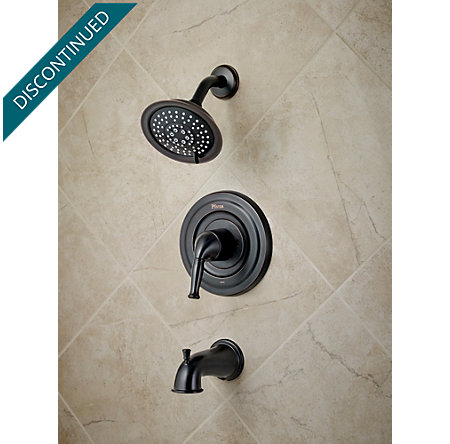 Tuscan Bronze Universal 1-Handle Tub & Shower, Trim Only - R90-TD1Y - 2