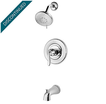 Polished Chrome Universal 1-Handle Tub & Shower, Trim Only - R90-TN2C - 1
