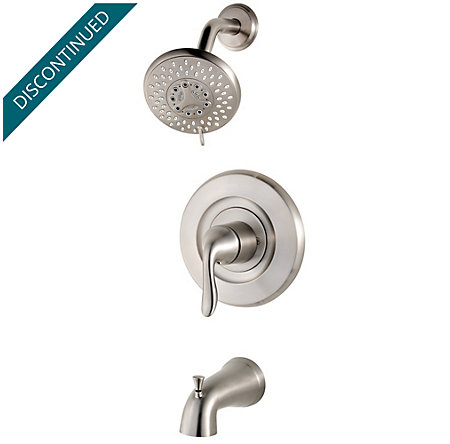 Brushed Stainless Steel Universal 1-Handle Tub & Shower, Trim Only - R90-TN2K - 1