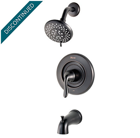 Tuscan Bronze Universal 1-Handle Tub & Shower, Trim Only - R90-TN2Y - 1