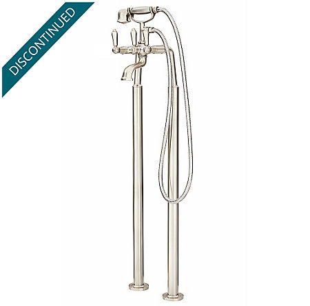 Brushed Nickel Traditional Free Standing Tub Filler - RT6-1TFK - 1
