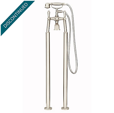 Brushed Nickel Traditional Free Standing Tub Filler - RT6-1TFK - 2