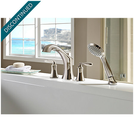 Polished Nickel Iyla 4-Hole Roman Tub with Handshower, Trim Only - RT6-4TRD - 2
