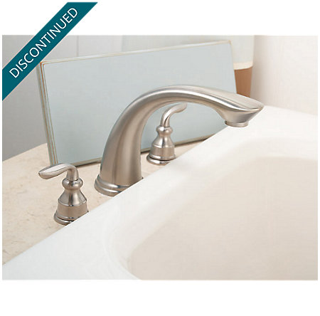 Brushed Nickel Avalon 3 Hole Roman Tub - RT6-CBXK - 3