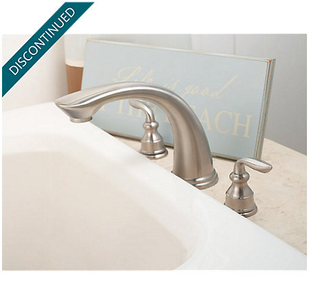 Brushed Nickel Avalon 3 Hole Roman Tub - RT6-CBXK - 4