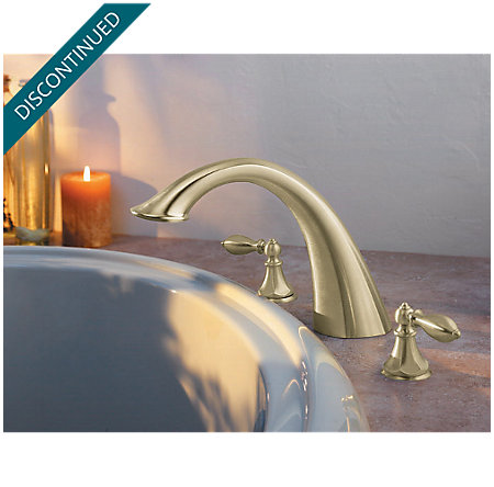 Brushed Nickel Catalina 3-Hole Roman Tub, Valve and Handle Not Included - RT6-5EXK - 2