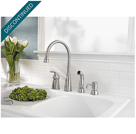 Stainless Steel Avalon 1-Handle Kitchen Faucet - T26-4CBS - 2