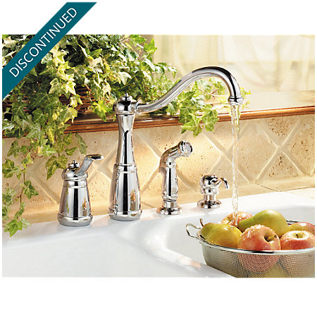 Polished Chrome Marielle 1-Handle Kitchen Faucet - T26-4NCC - 2