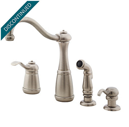 Rustic Pewter Marielle 1-Handle Kitchen Faucet - T26-4NEE - 1