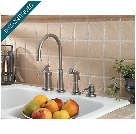 Rustic Pewter Ashfield 1-Handle Kitchen Faucet - T26-4YPE - 2
