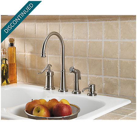 Brushed Nickel Ashfield 1-Handle Kitchen Faucet - T26-4YPK - 2