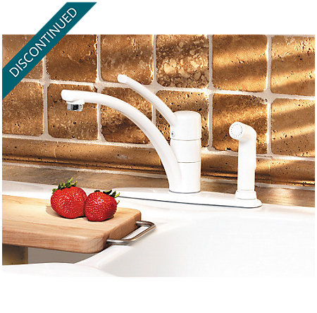 White Parisa 1-Handle Kitchen Faucet - T34-3NWW - 6
