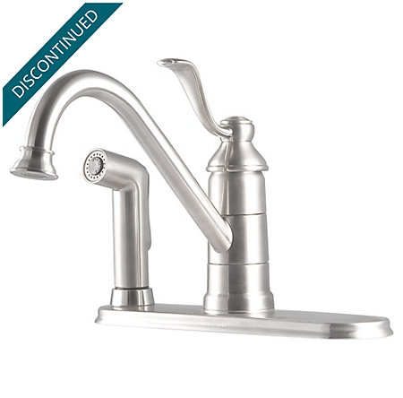 Stainless Steel Portland 1-Handle Kitchen Faucet - T34-3PS0 - 1