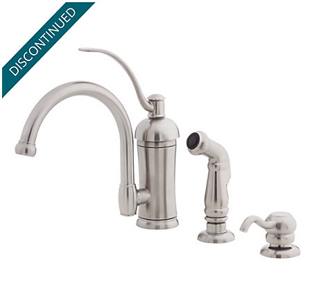 Stainless Steel Amherst 1-Handle Kitchen Faucet - T34-4HAS - 1