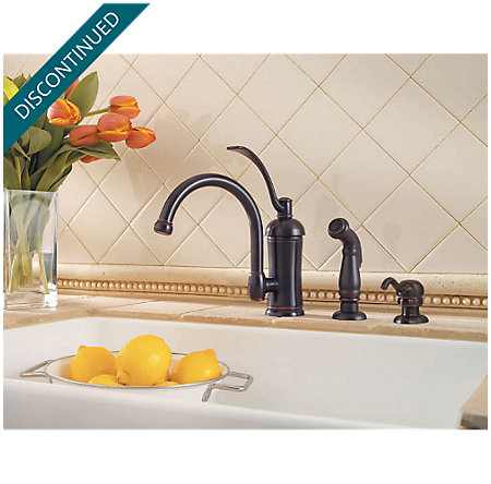Tuscan Bronze Amherst 1-Handle Kitchen Faucet - T34-4HAY - 2