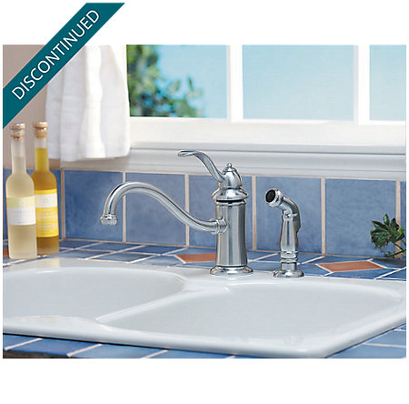 Stainless Steel Marielle 1-Handle Kitchen Faucet - T34-4TSS - 4