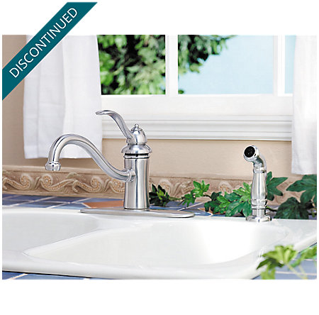 Stainless Steel Marielle 1-Handle Kitchen Faucet - T34-4TSS - 5