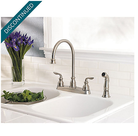 Stainless Steel Avalon 2-Handle Kitchen Faucet - T36-4CBS - 2