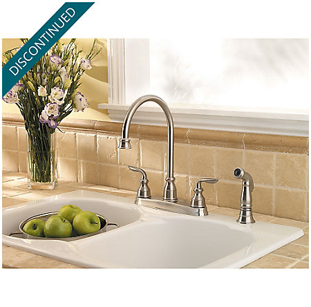 Stainless Steel Avalon 2-Handle Kitchen Faucet - T36-4CBS - 3