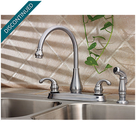 Stainless Steel Treviso 2-Handle Kitchen Faucet - T36-4DSS - 2