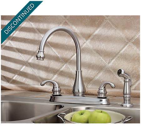 Stainless Steel Treviso 2-Handle Kitchen Faucet - T36-4DSS - 3
