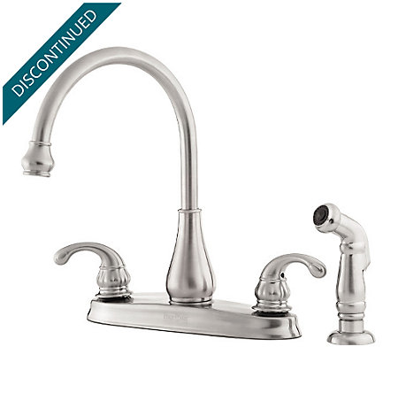 Stainless Steel Treviso 2-Handle Kitchen Faucet - T36-4DSS - 1