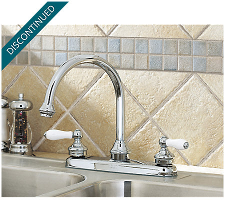 Polished Chrome Savannah 2-Handle Kitchen Faucet - T36-84PC - 2