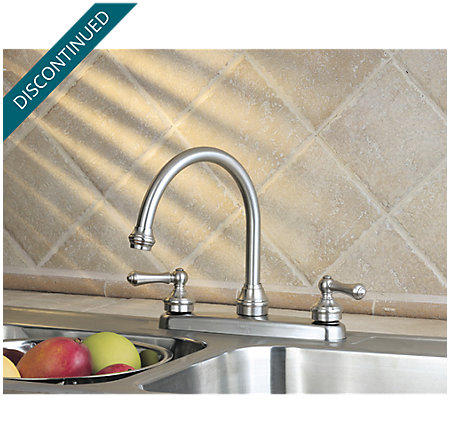 Stainless Steel Savannah 2-Handle Kitchen Faucet - T36-84SS - 2
