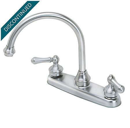 Stainless Steel Savannah 2-Handle Kitchen Faucet - T36-84SS - 1