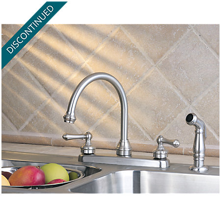Stainless Steel Savannah 2-Handle Kitchen Faucet - T36-85SS - 2