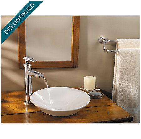 Polished Chrome Ashfield Vessel, Single Control Bath Faucet - T40-YP0C - 2