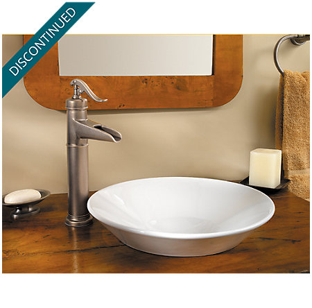Rustic Pewter Ashfield Vessel, Single Control Bath Faucet - T40-YP0E - 2