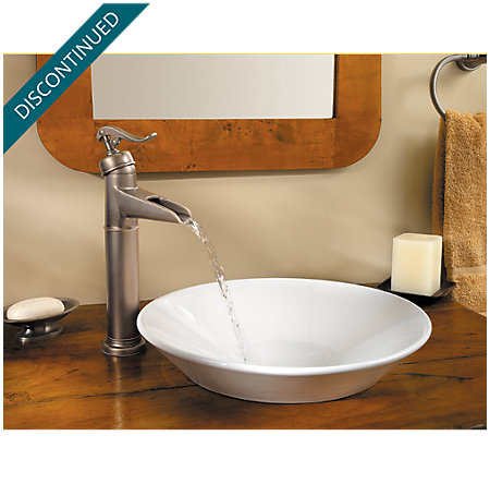 Rustic Pewter Ashfield Vessel, Single Control Bath Faucet - T40-YP0E - 3