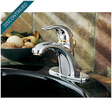Polished Chrome / Polished Brass Parisa Single Control, Centerset Bath Faucet - T42-AMFB - 4