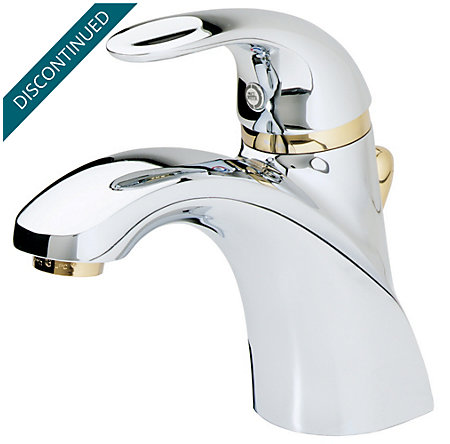 Polished Chrome / Polished Brass Parisa Single Control, Centerset Bath Faucet - T42-AMFB - 2