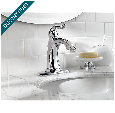 Polished Chrome Santiago Single Control, Centerset Bath Faucet - T42-ST0C - 4