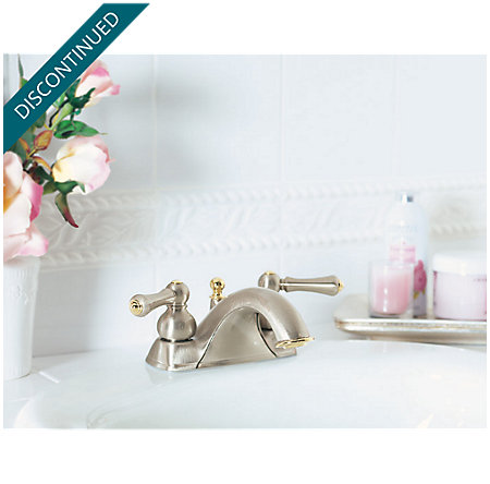 Brushed Nickel / Polished Brass Georgetown Centerset Bath Faucet - T45-BPXK - 2