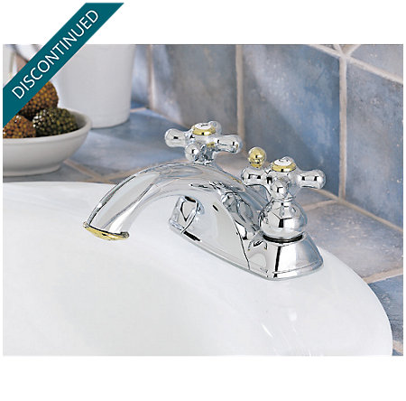 Polished Chrome / Polished Brass Georgetown Centerset Bath Faucet - T45-BXMB - 2