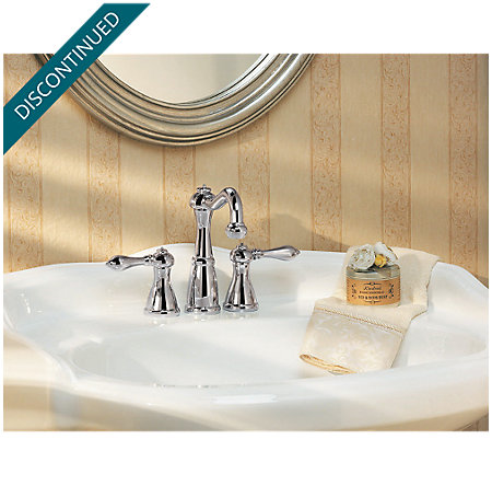 Polished Chrome Marielle Mini-Widespread Bath Faucet - T46-M0BC - 3