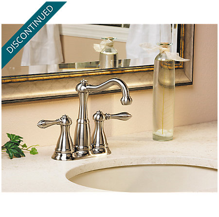 Brushed Nickel Marielle Mini-Widespread Bath Faucet - T46-M0BK - 3