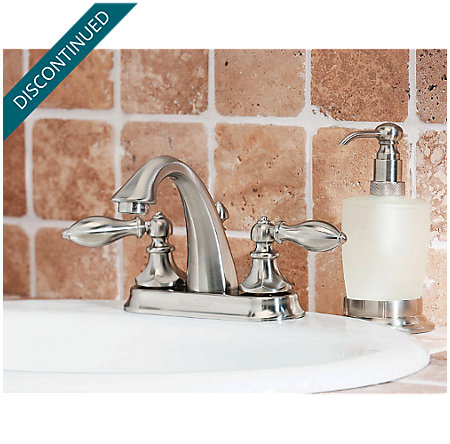 Brushed Nickel Catalina Centerset Bath Faucet - T48-E0BK - 2